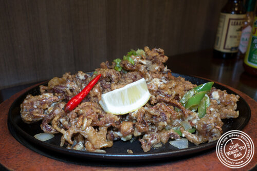 Pusit Sisig at Max's, cuisine of The Philippines in Jersey City