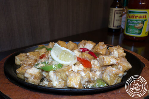 Sizzling tofu at Max's, cuisine of The Philippines in Jersey City