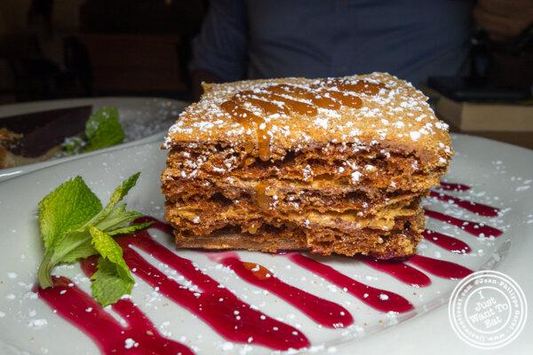 Honey cake at Chama Mama in Chelsea