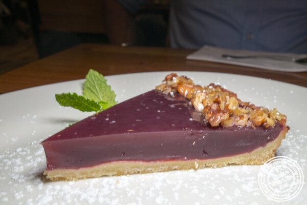Grape tart at Chama Mama in Chelsea