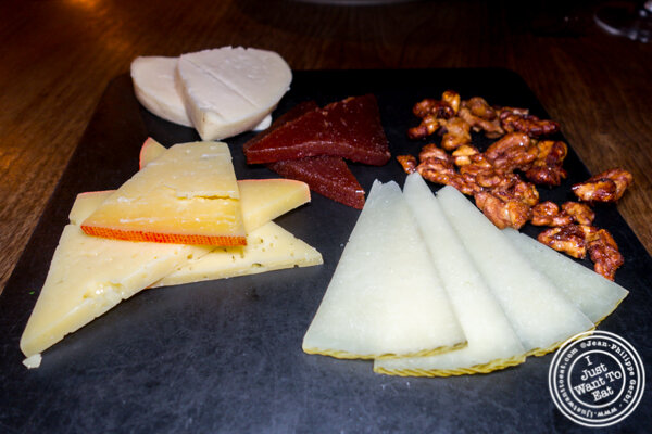 Cheese plate at Socarrat Paella Bar in Chelsea
