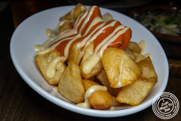Patatas bravas at Socarrat Paella Bar in Chelsea
