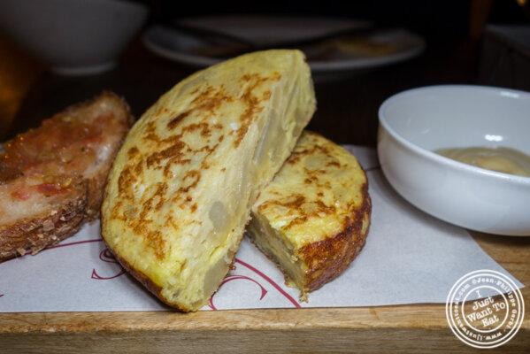 Tortilla española at Socarrat Paella Bar in Chelsea