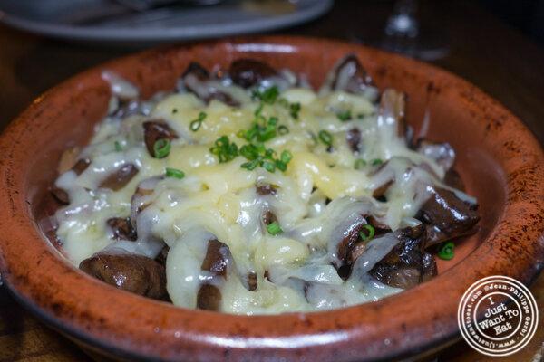 Champinones asados at Socarrat Paella Bar in Chelsea