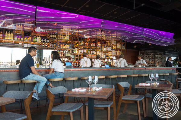 Bar area at Lokal in Jersey City
