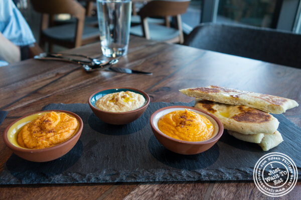 Trio of hummus at Lokal in Jersey City