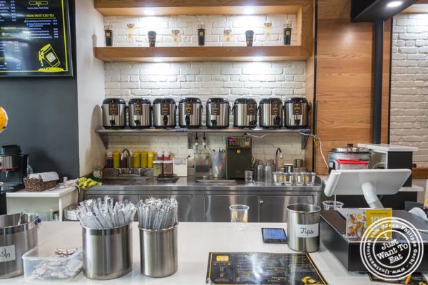 Counter at Rabbit Rabbit Tea in NYC, NY