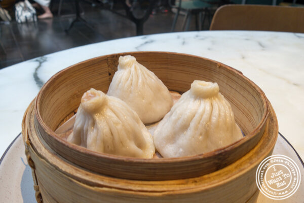 Pork and shrimp soup buns at Hao Noodles in Chelsea