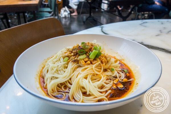 Dan dan noodles at Hao Noodles in Chelsea