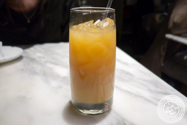 Citrus black tea at Hao Noodles in Chelsea