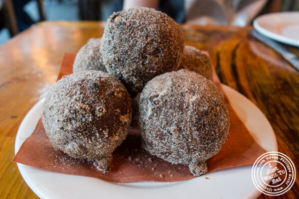 Ricotta fritters at Morandi in Chelsea