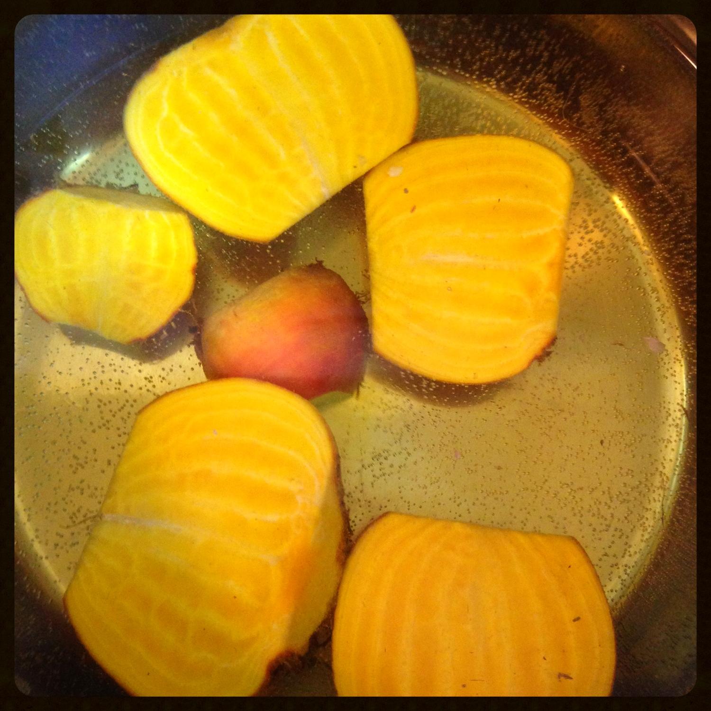Boiled Golden Beets