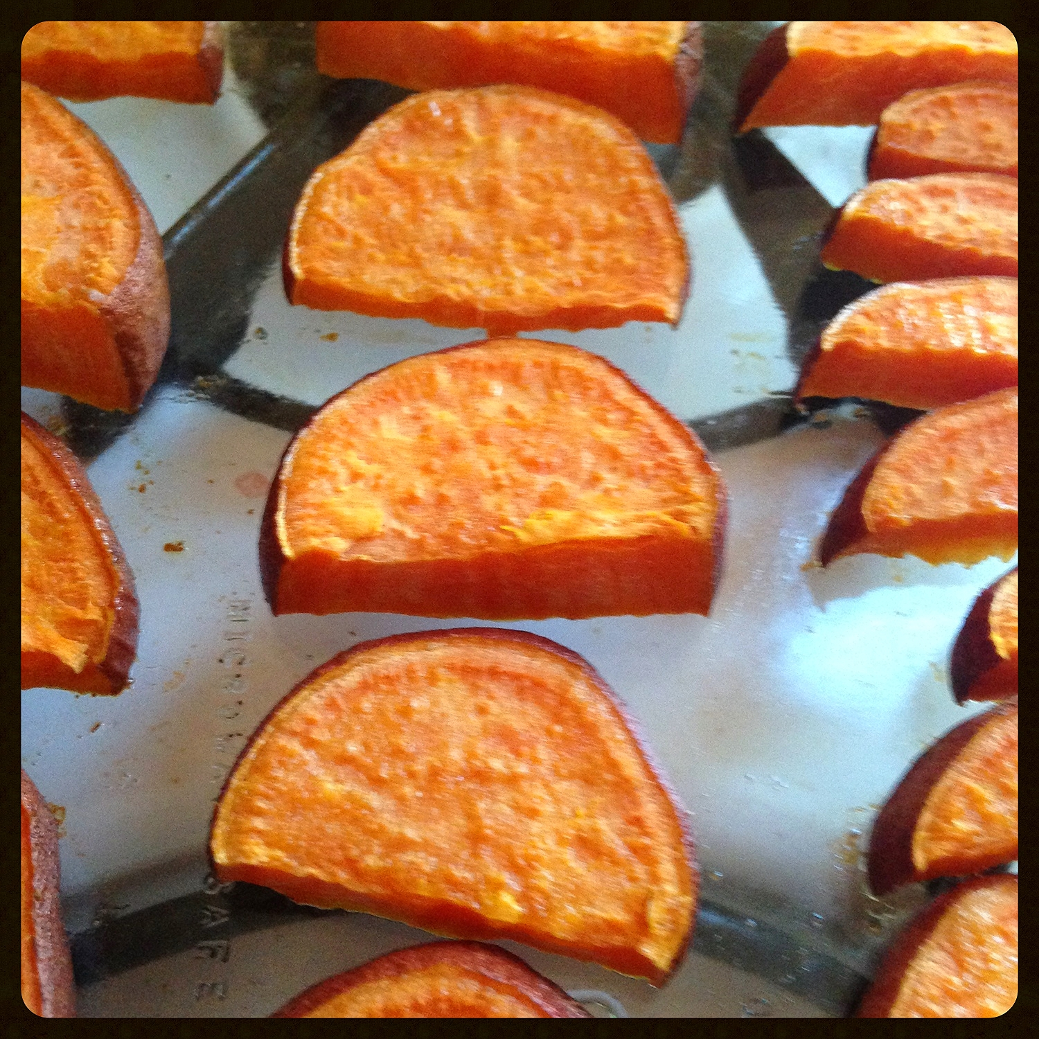 Cooked Half-Moon Shaped Yams