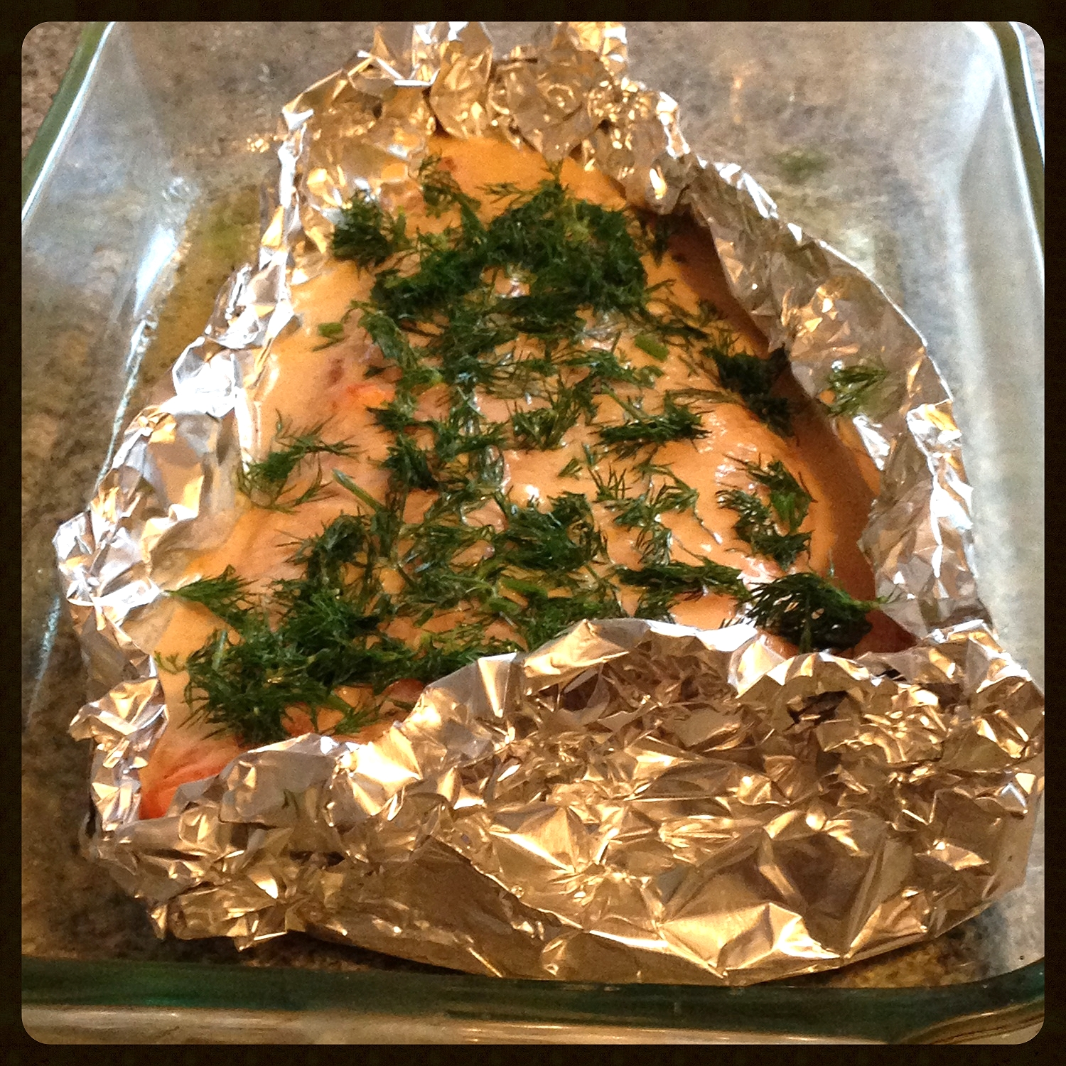 Getting ready to bake the Salmon