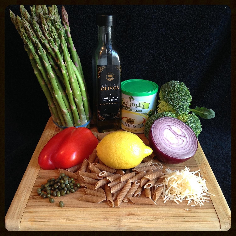Mediterranean Pasta Fresca Ingredients