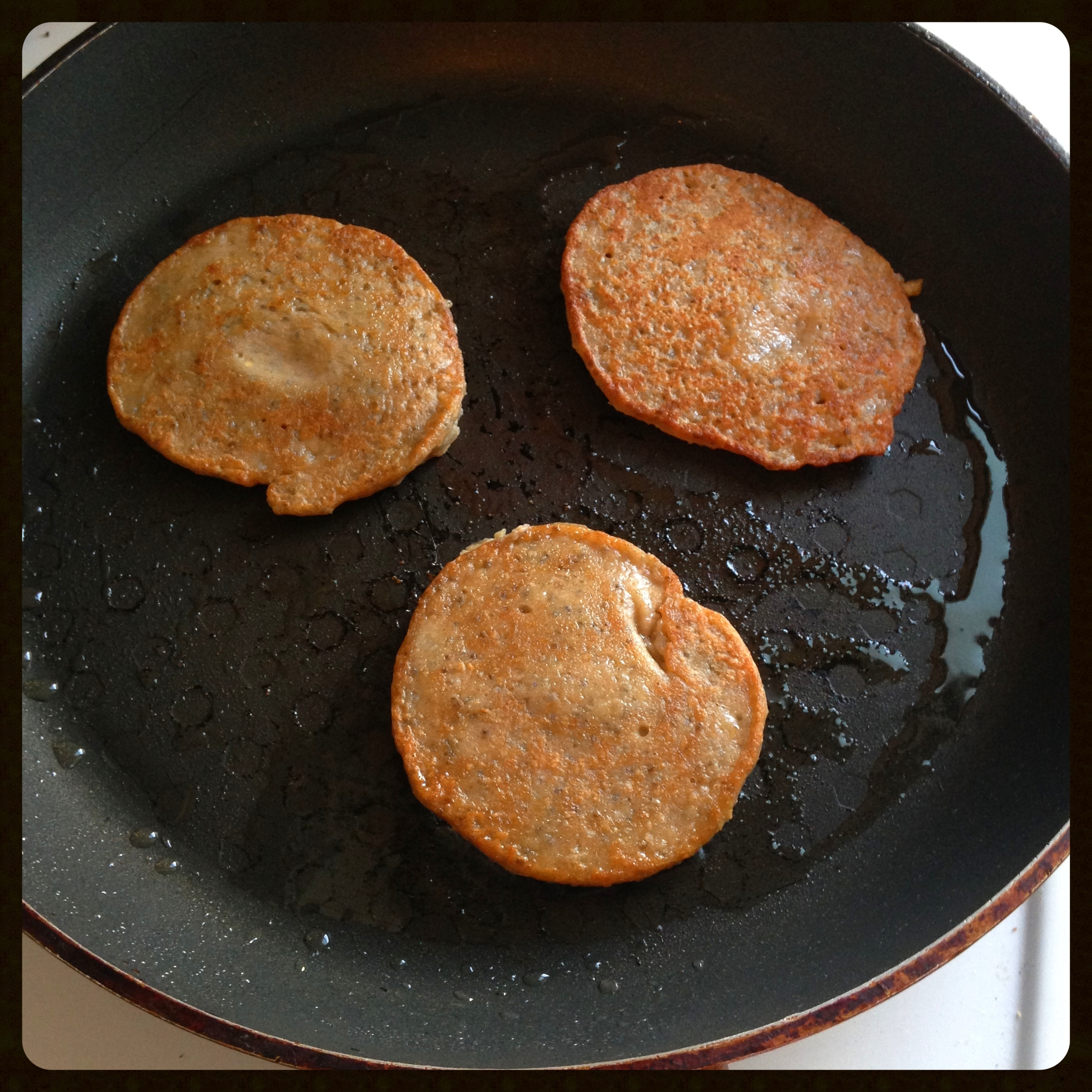 Frying pancakes stage 2