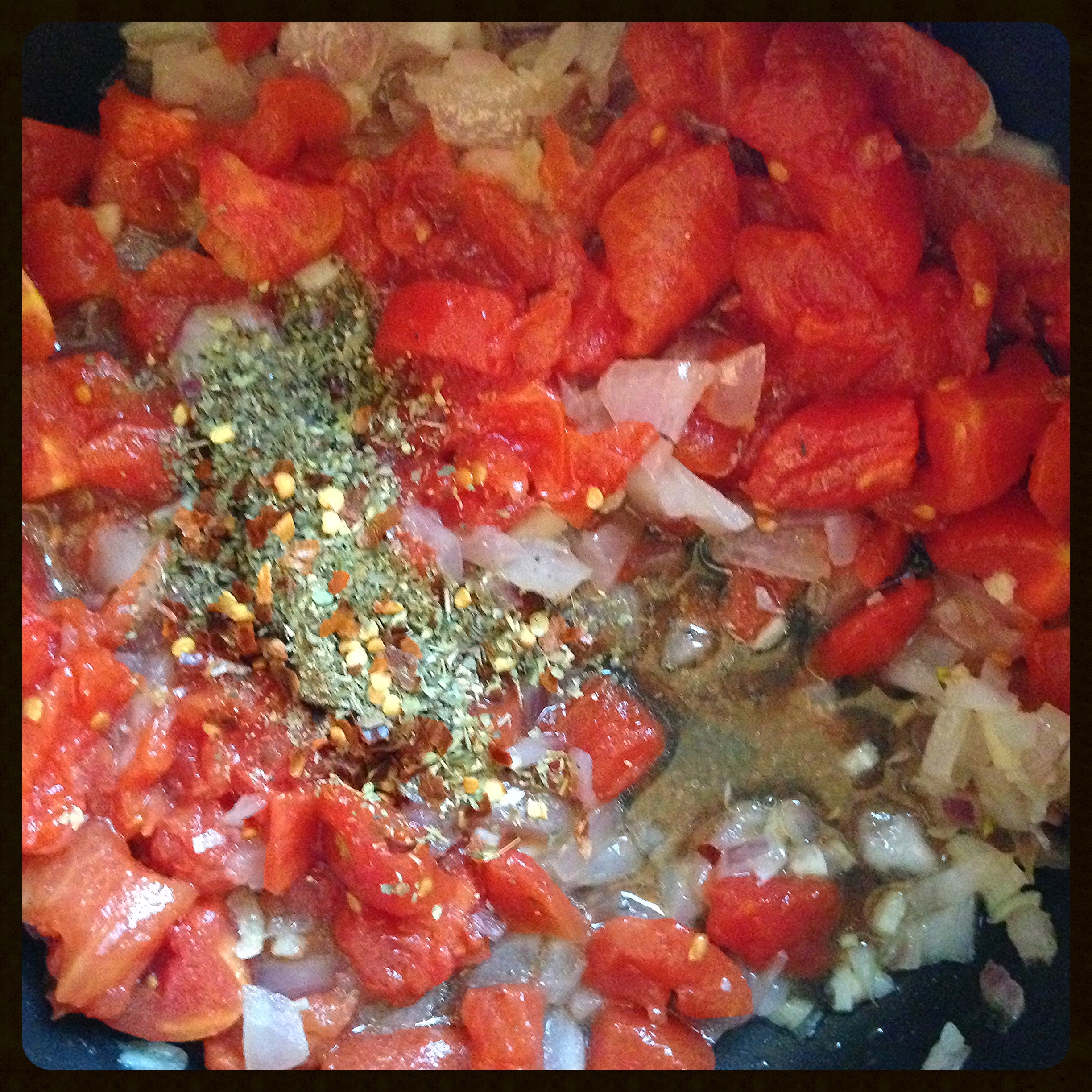 sauteed onion, garlic, tomatoes and spices