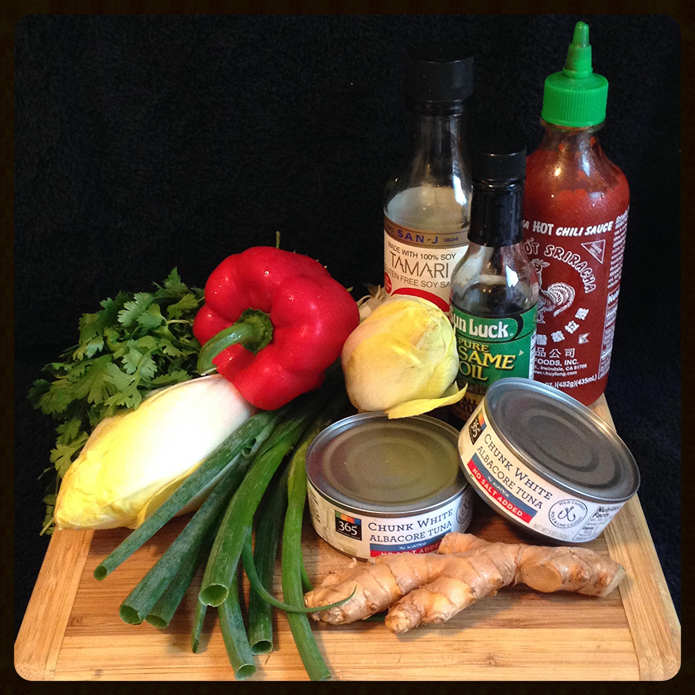 Spicy Tuna in Endive Leaves Ingredients