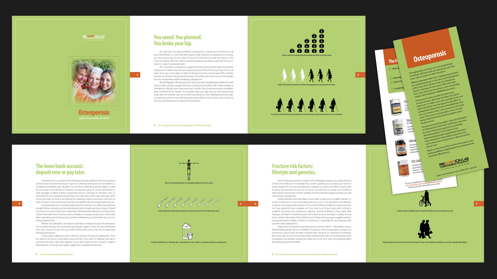 Osteoporosis Brochure / Product Rack Card