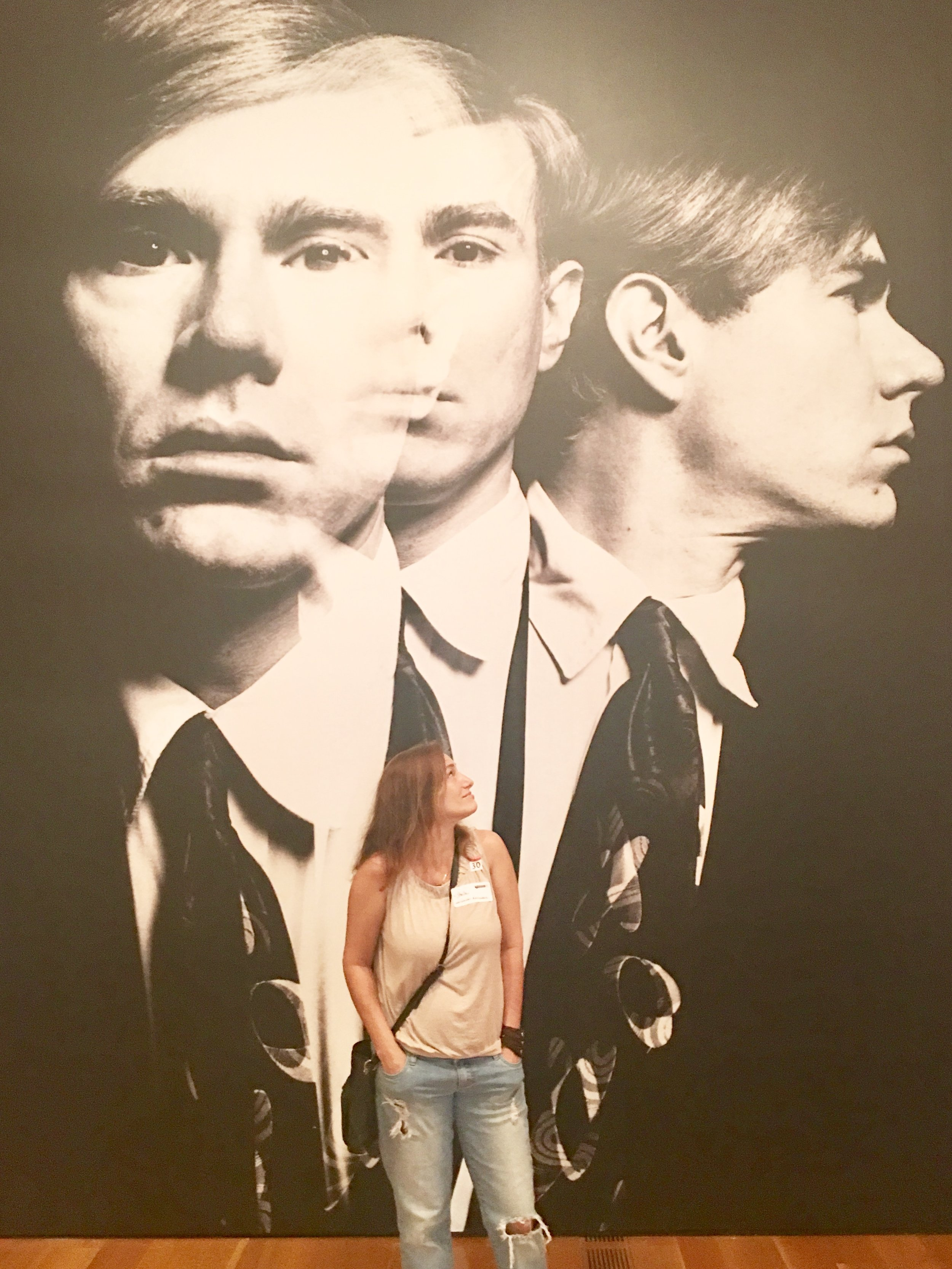Sheila and Warhol at the High