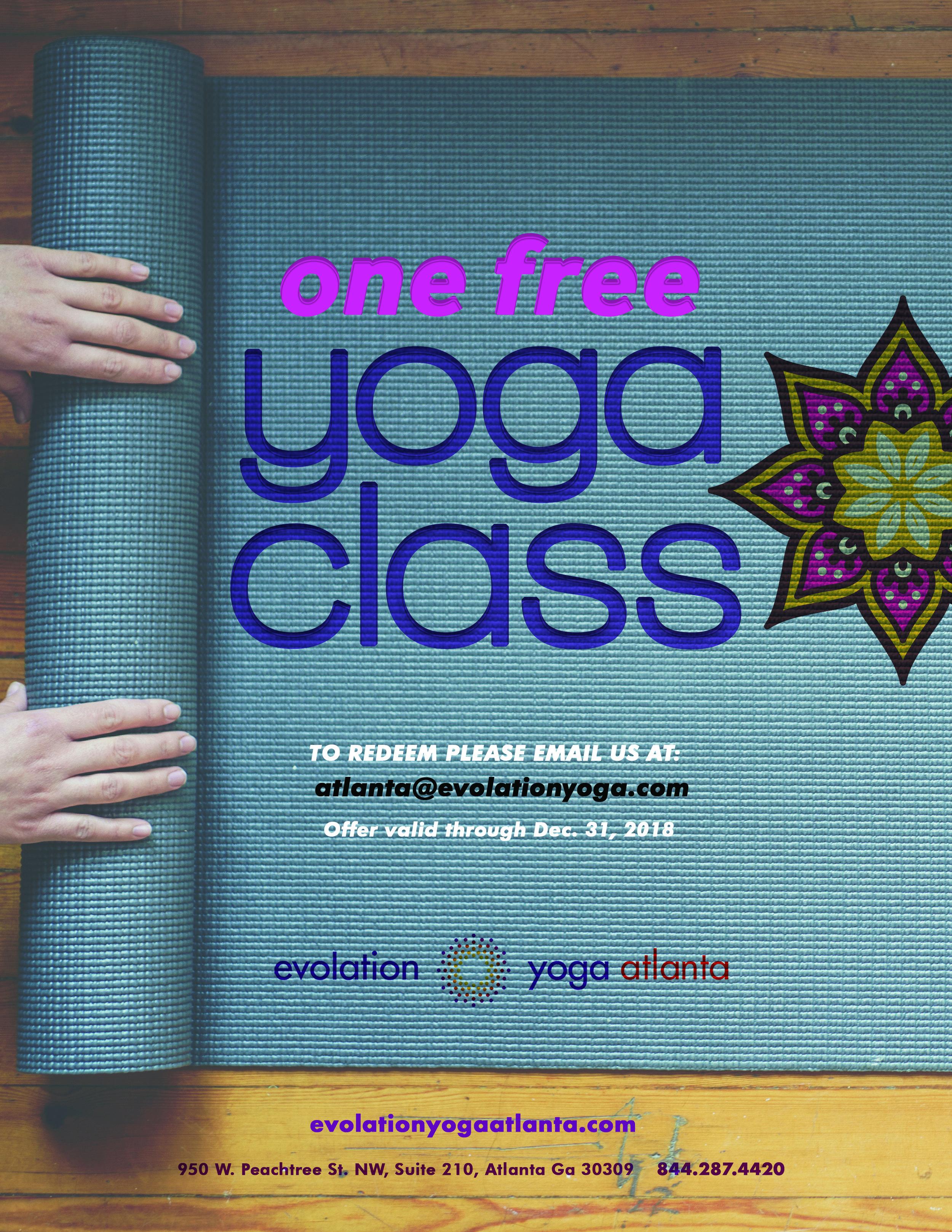 Poster for evolation yoga