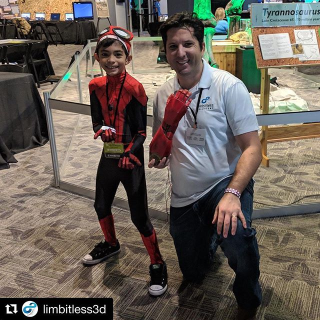 Look who we met on day 3 of #otronicon . . . #spiderman #marvel #science #steam #belimbitless #ironman #orlando