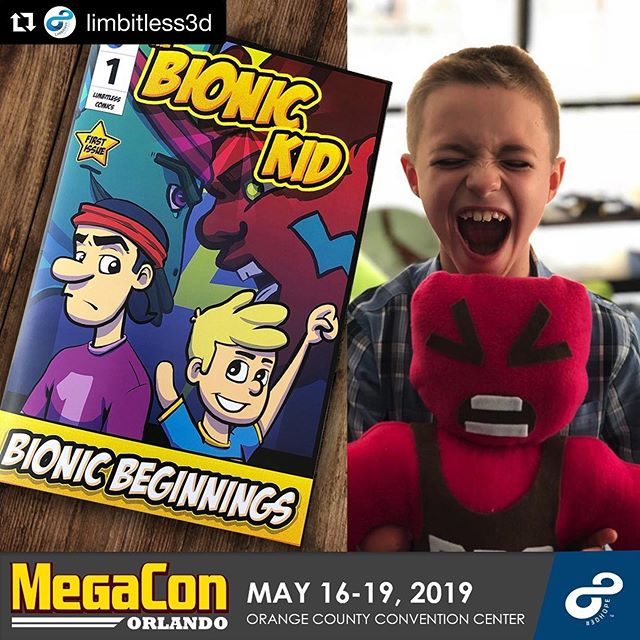 #Repost @limbitless3d with @get_repost ・・・ We are excited to announce our participation in this year's #MEGACONOrlando. Support our bionic kids by visiting our booth!  Play our #videogames, get your bionic kid #comic, and check out our #leagueoflegends and #Halo themed #3Dprinted bionic limbs. Stay tuned for more!!! . . . . #comicbook #orlando #ucf #comiccon #officialmegacon #superhero #comics #megacon #cosplay #cosplayers