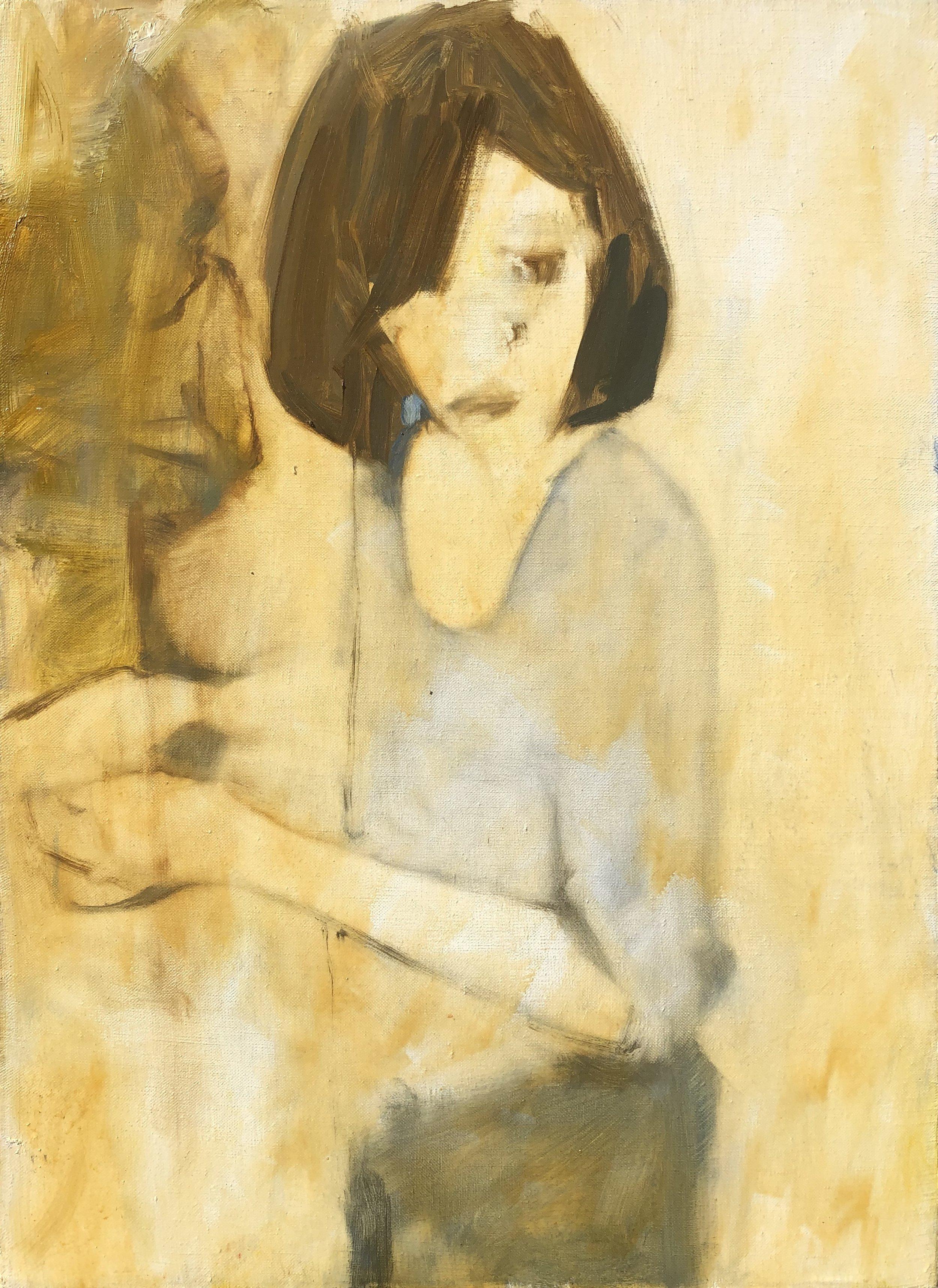 Asami at Sink (30x22)