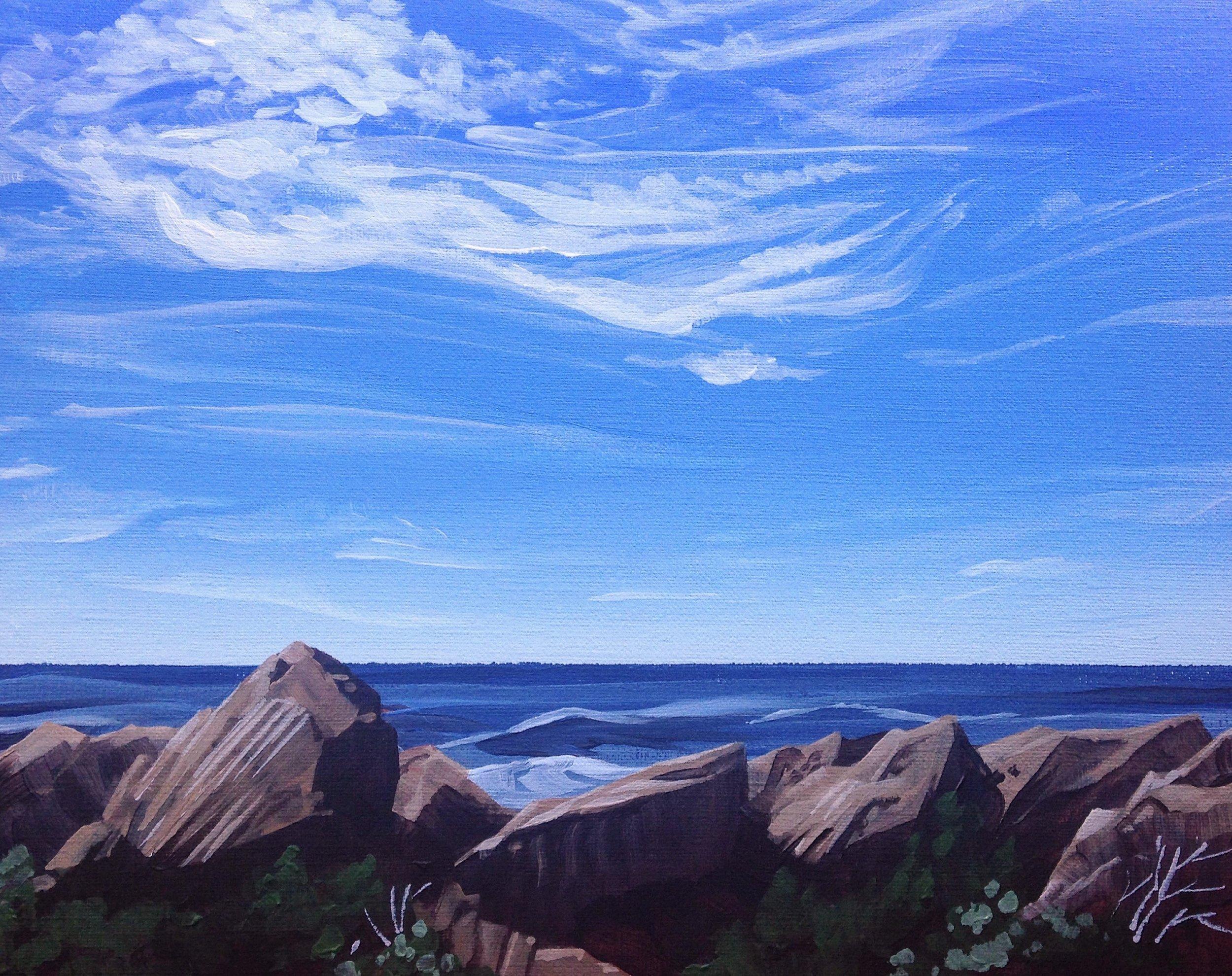 "BREEZY | 9x12"" acrylic on canvas board"