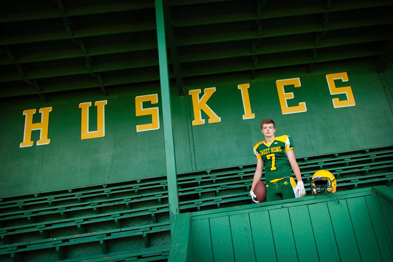 Football Senior Pictures - Sweet Home Oregon