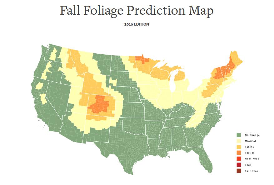 Fall Foliage Map Photographers