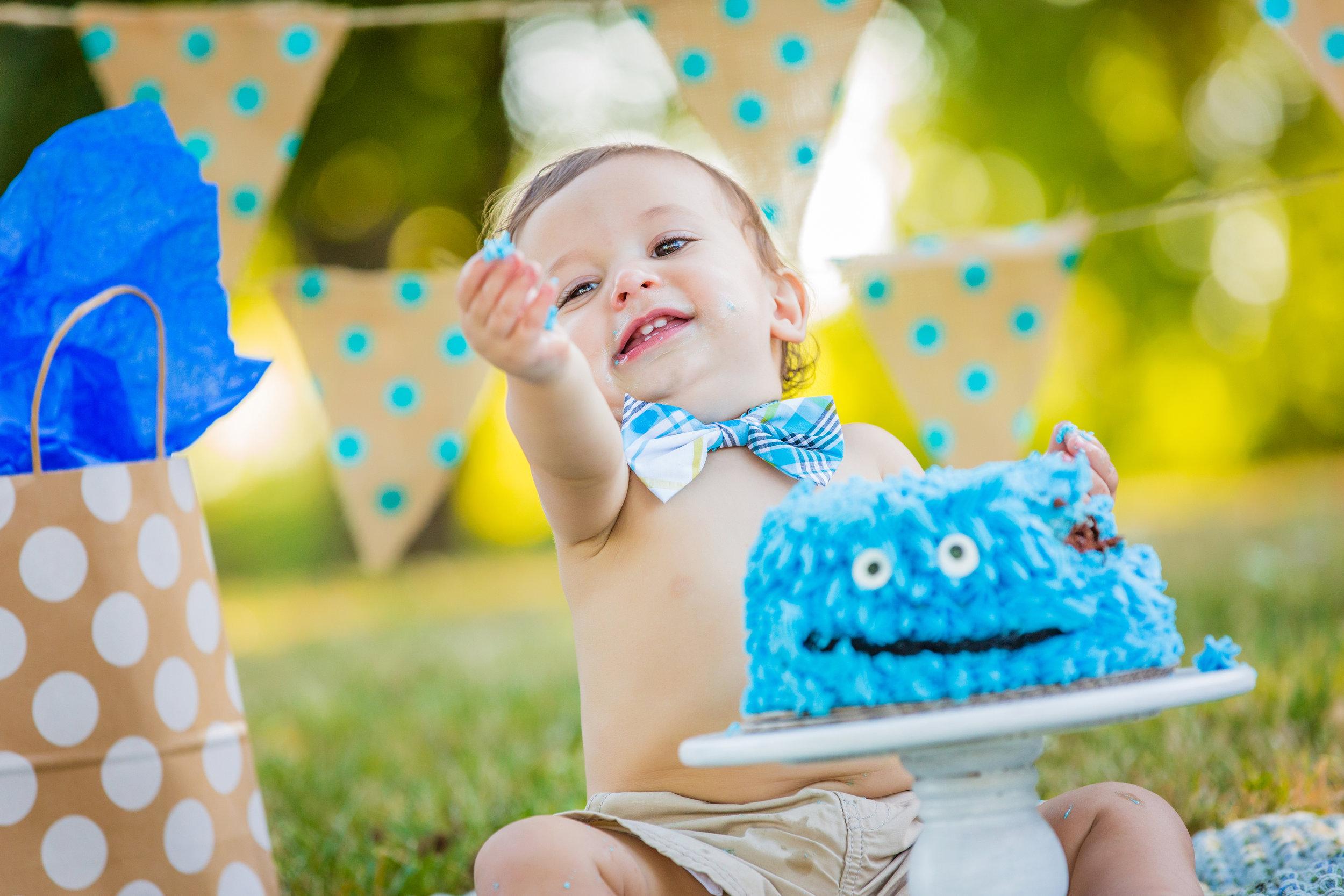 Smash cake baby