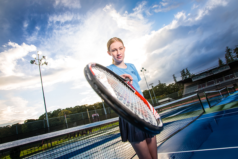 Tennis Senior Pictures - Corvallis Oregon