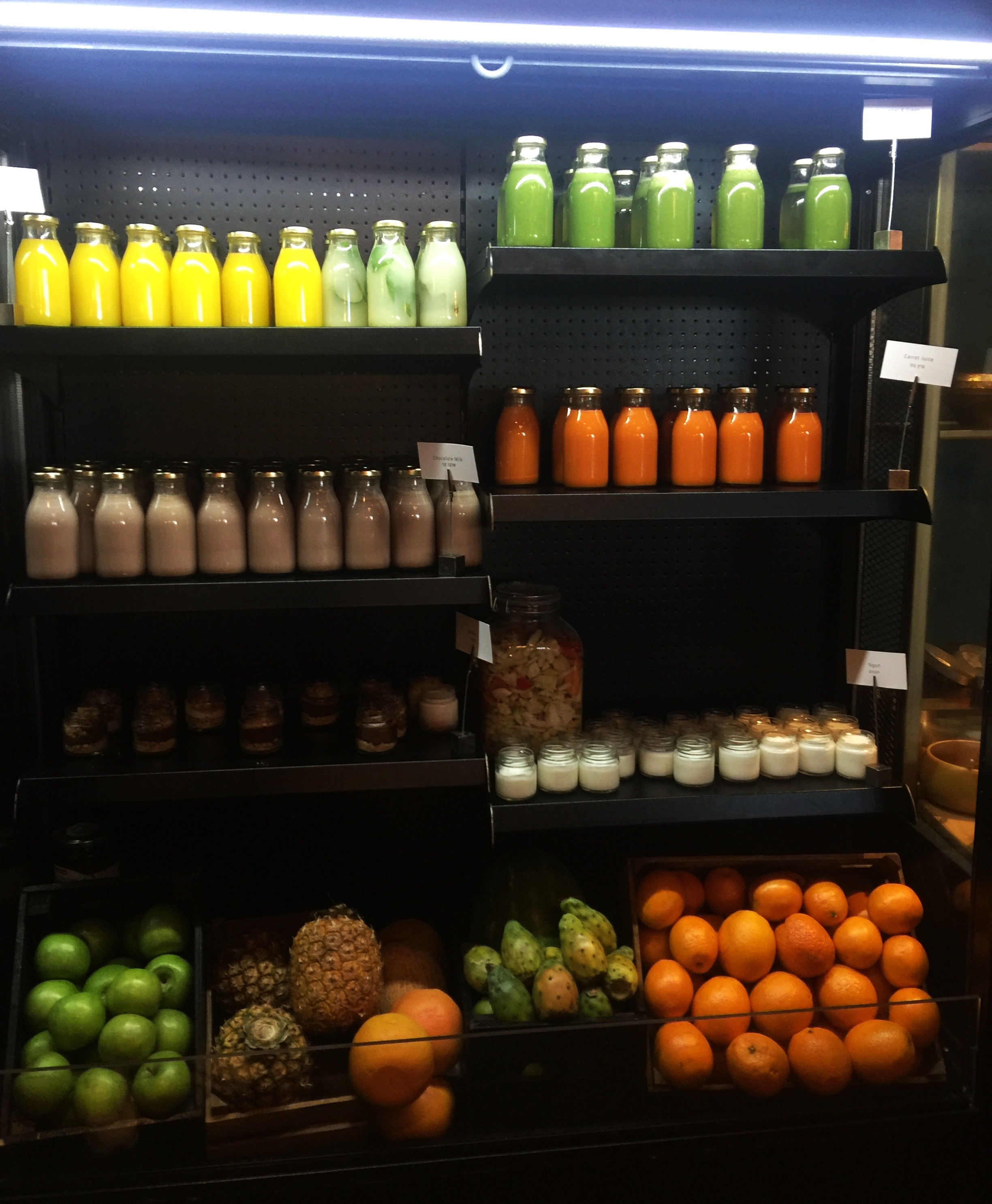 Juice bar at the hotel: Tel Aviv's food scene is very current, both in terms of innovation and the healthy factor…