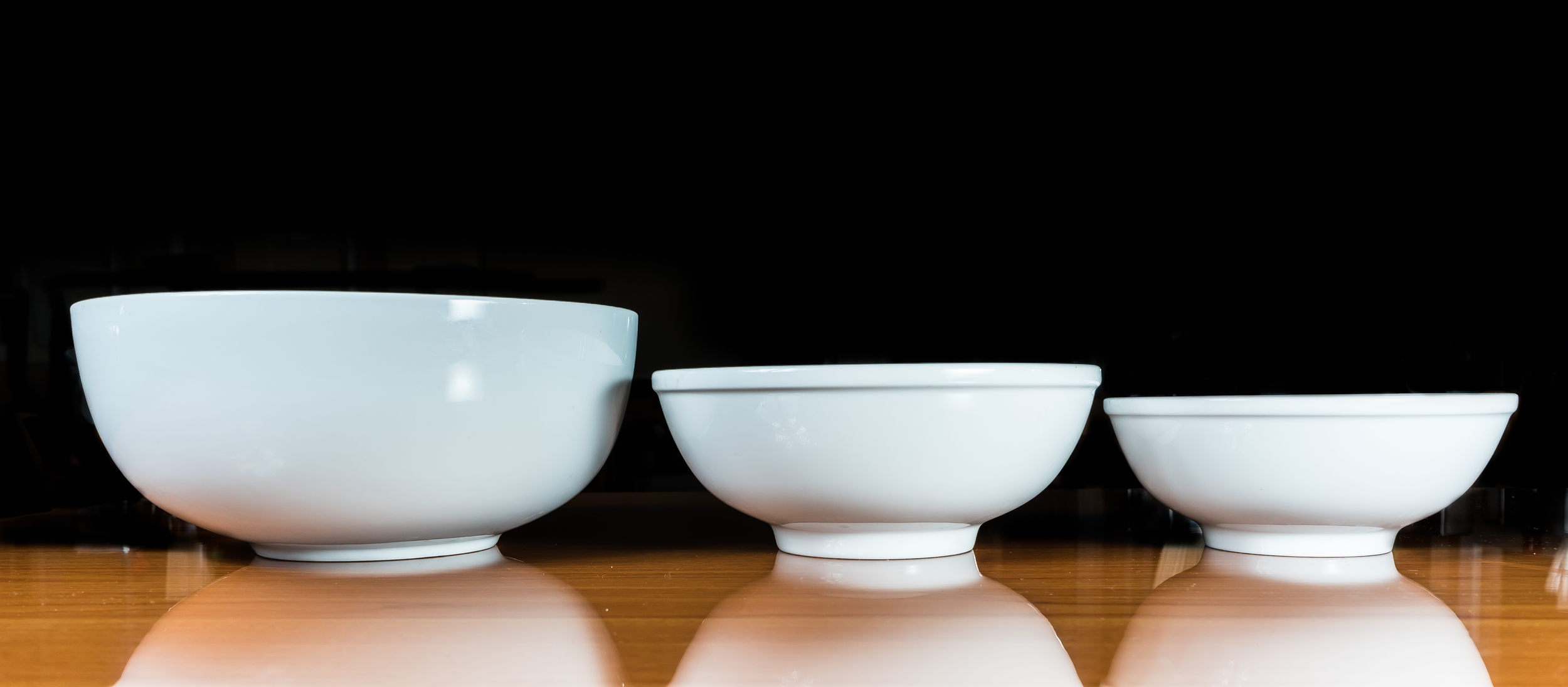 From Left To Right: Pho 102 Bowl, Large Bowl, Small Bowl