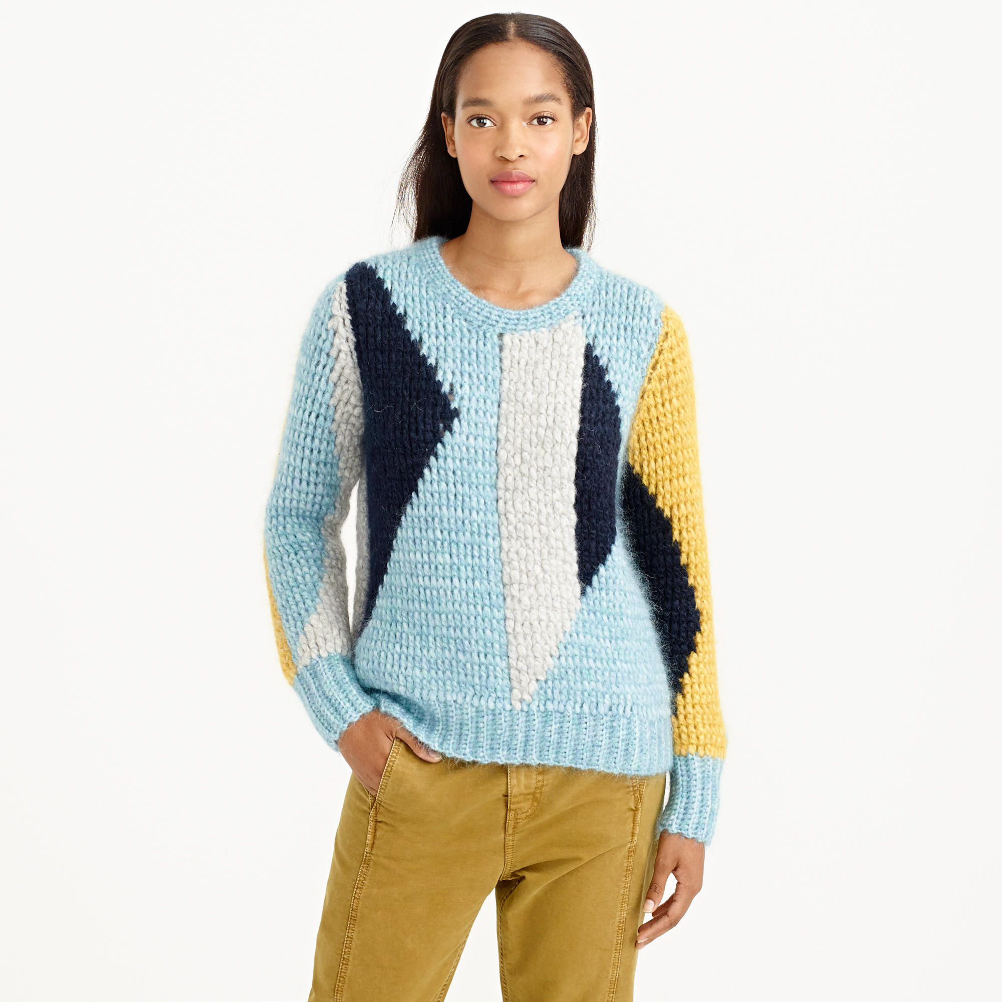 Courtesy of jcrew.com COLLECTION ABSTRACT MOHAIR SWEATER: $368.00