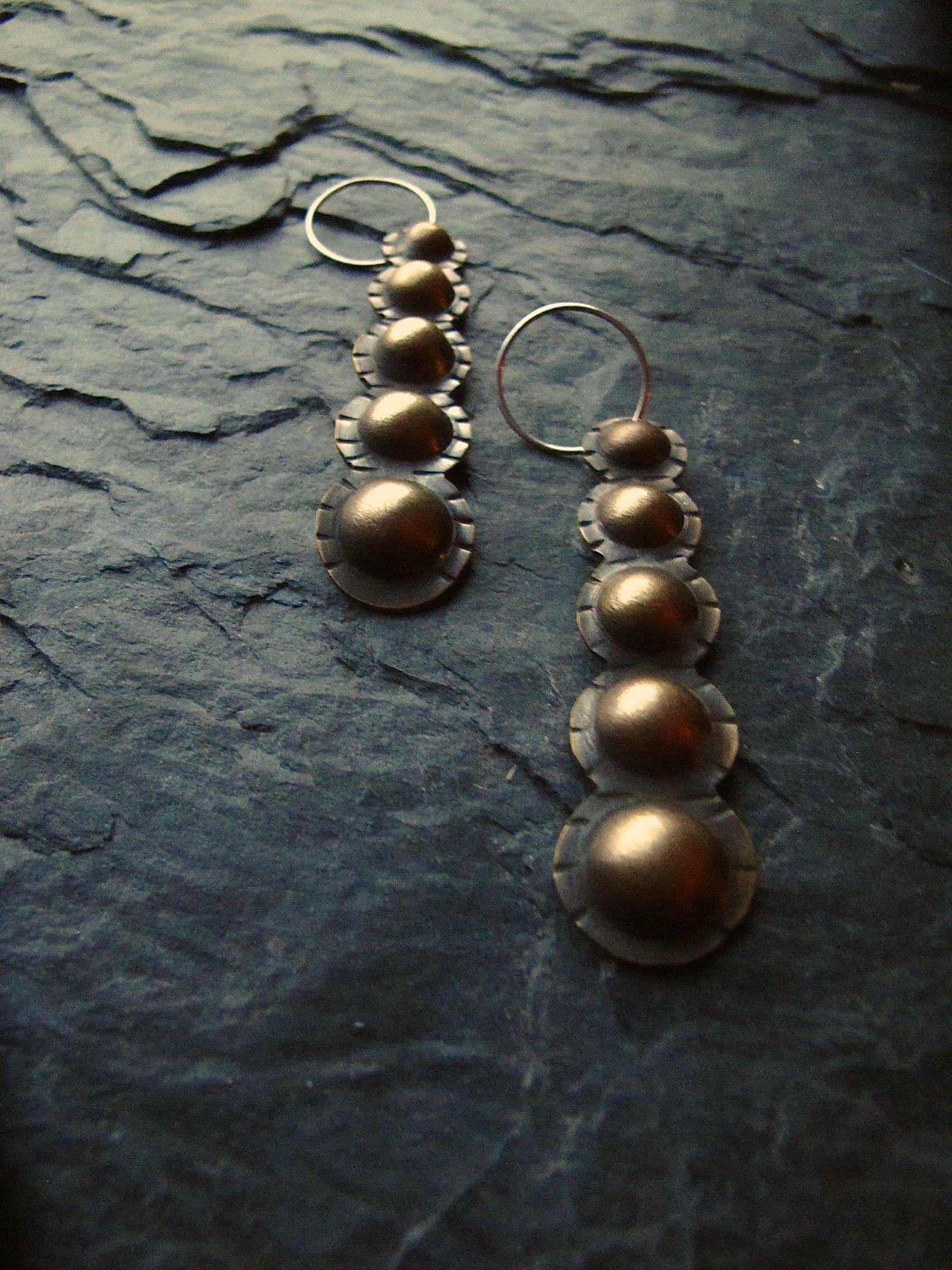 Casacading dome earrings