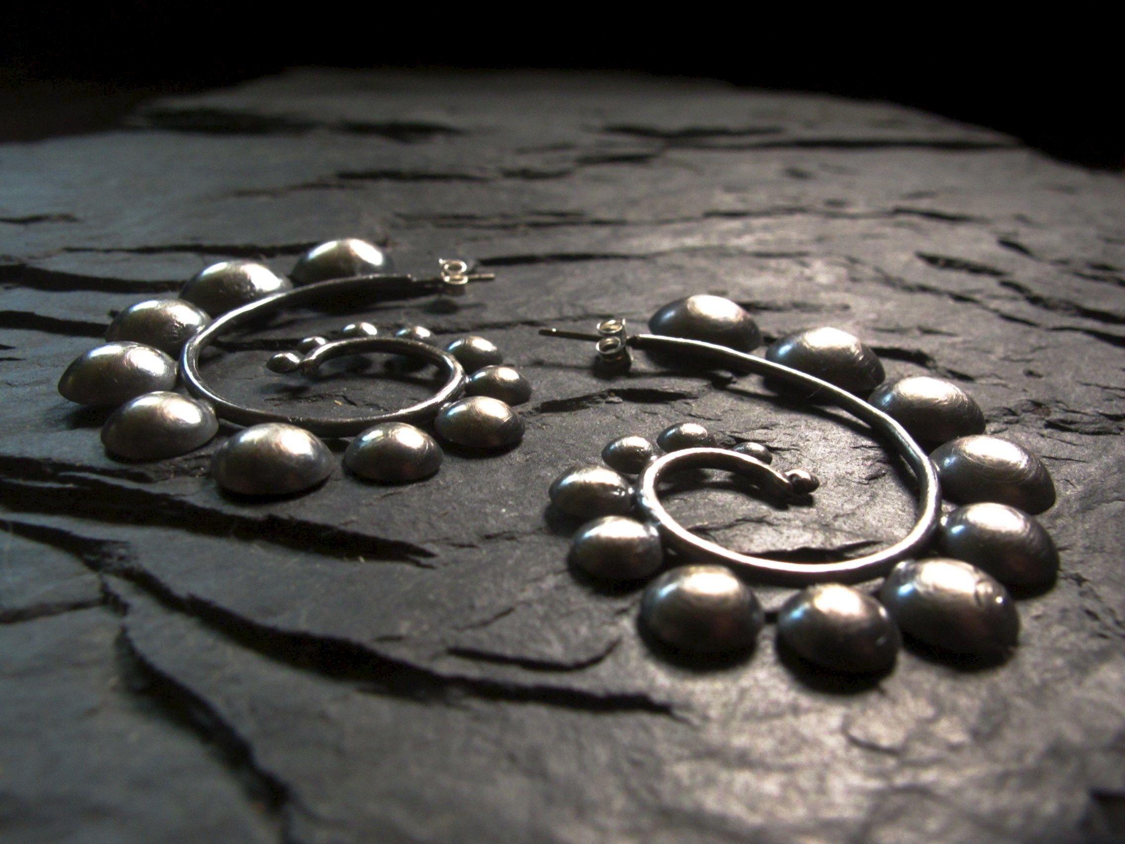 Cascade swirl earrings