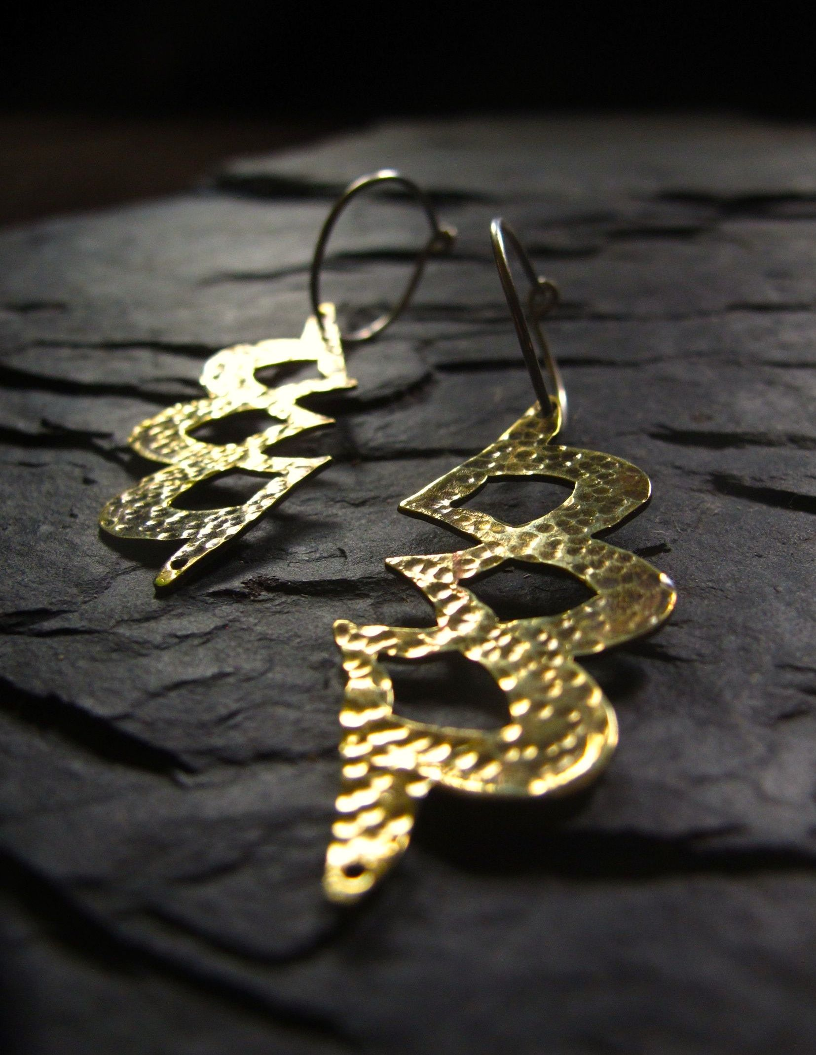 Lace lotus earrings