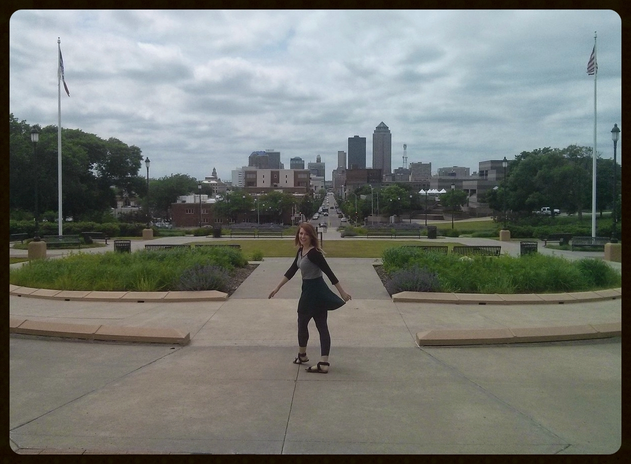 Keeva in front of the Capitol building.