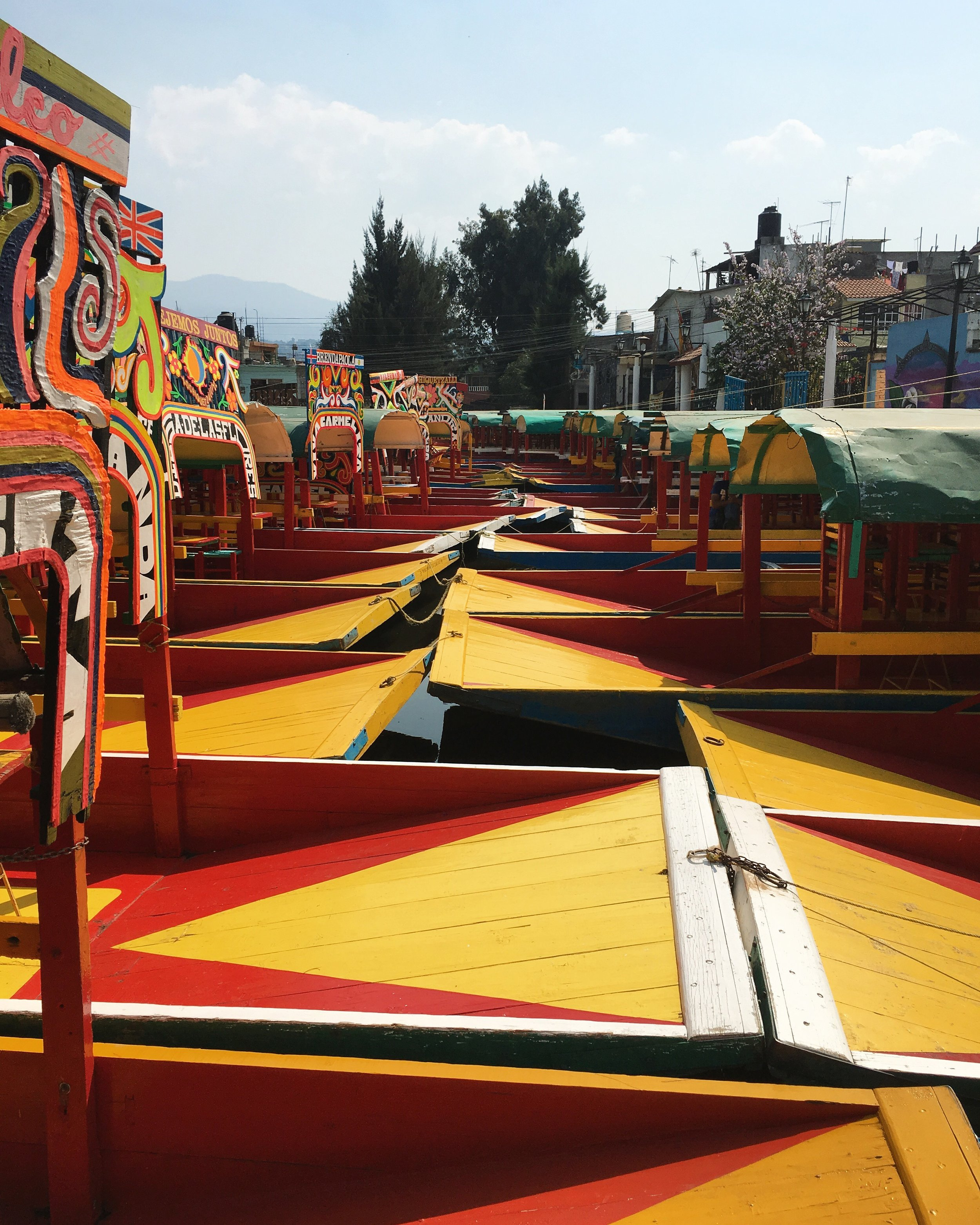 The famous trajineras of Xochimilco