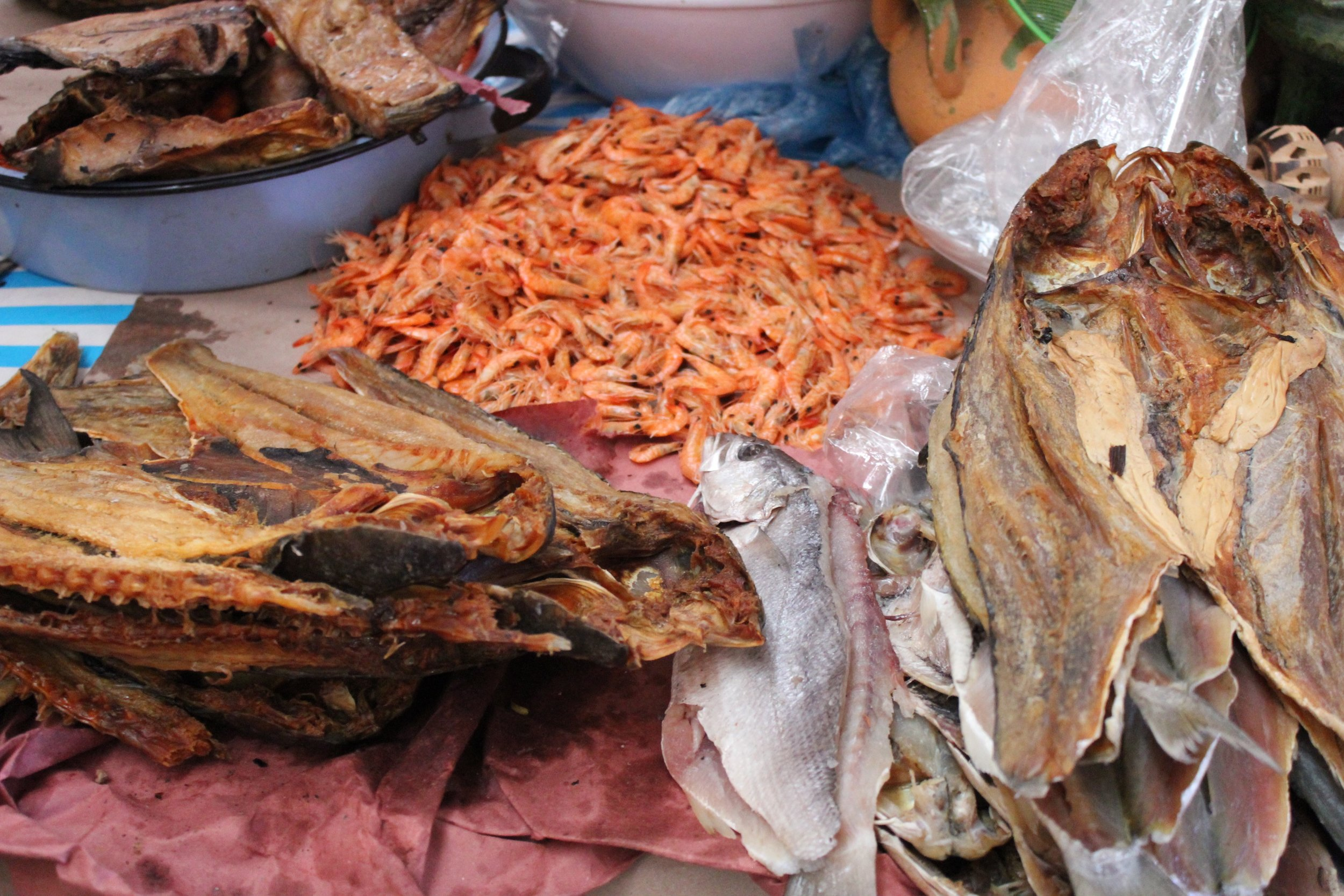 We attended the market on a Friday, which we were told is the shopping day for dried fish.