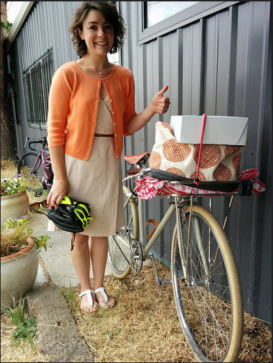 Baked goods + bikes. Thumbs up!