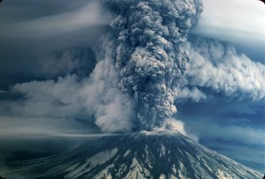 Rare, recently-discovered photo of Mt. St. Helens erupting on May 18, 1980. Photo by Richard Bowen (via OregonLive.com).