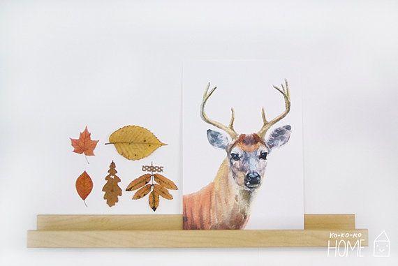 Watercolor deer print by kokokoshop on Etsy.com.