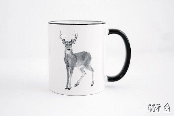 Deer mug by kokokoshop on Etsy.com.