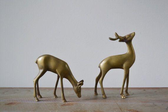 Vintage brass deer from Kindling Vintage on Etsy.com.