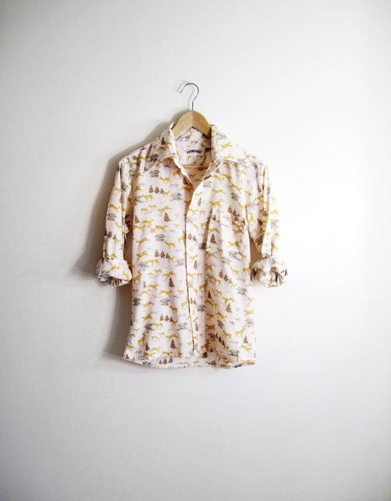Vintage deer shirt from Twig & Spoke Vintage on Etsy.com.