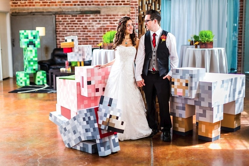Minecraft theme wedding - Photo by The Goodness