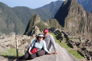Adam and Megan at Machu Picchu